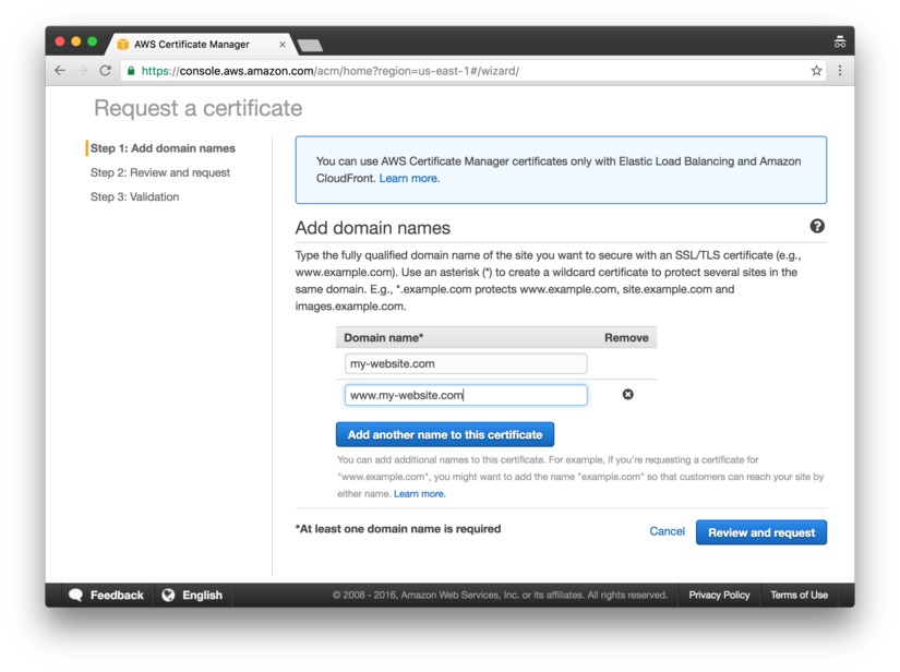 Host a Static Site on AWS, using S3 and CloudFront | David Baumgold